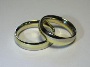 Vestuviniai žiedai Nr.49 (iš dviejų spalvų aukso)