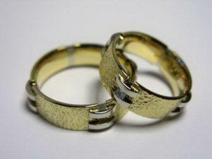 Vestuviniai žiedai Nr.4 ( iš geltono ir balto aukso)