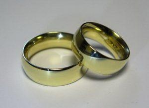 Vestuviniai žiedai Nr.50 (platūs, iš geltono, balto arba raudono aukso)