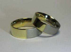 Vestuviniai žiedai Nr.51 (iš dviejų spalvų aukso)