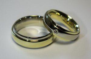 Vestuviniai žiedai Nr.53 (iš skirtingų spalvų aukso)