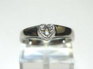 Sužadėtuvių žiedas Nr.55 (iš balto arba geltono aukso, su briliantais)