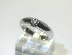Sužadėtuvių žiedas Nr.59 (iš platinos arba balto aukso, su briliantu)