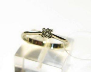 Sužadėtuvių žiedas Nr.60 (iš geltono, raudono arba balto aukso, su briliantu)