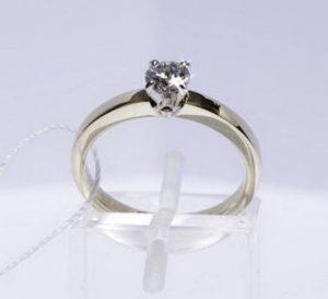 Sužadėtuvių žiedas Nr.67 (iš balto, geltono arba raudono aukso, su briliantu)
