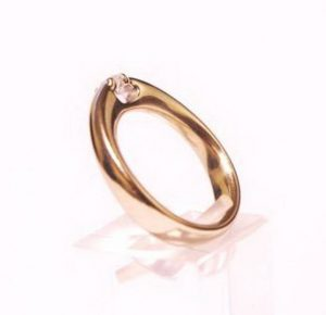 Sužadėtuvių žiedas Nr.72 (iš geltono arba raudono aukso, su briliantu)
