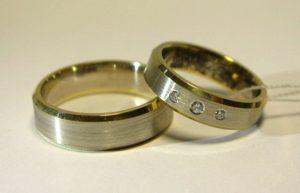 Vestuviniai žiedai Nr.75 (iš geltono, raudono arba balto aukso, matiniu paviršiumi)