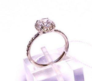 Sužadėtuvių žiedas Nr.78 (iš balto, geltono arba raudono aukso, su briliantais)