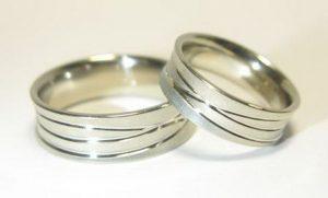 Vestuviniai žiedai Nr.79 (platūs, iš geltono arba raudono aukso)
