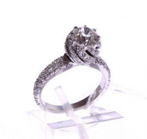 Sužadėtuvių žiedas Nr.81 (iš platinos arba balto aukso, su briliantais)
