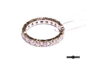 Sužadėtuvių žiedas Nr.87 (iš balto, raudono arba geltono aukso, su briliantais per visą diametrą)