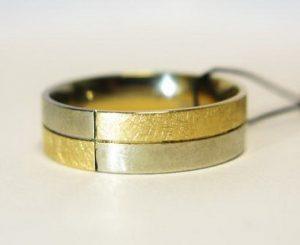 Vestuviniai žiedai Nr.88 (iš dviejų spalvų aukso)