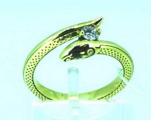 Sužadėtuvių žiedas Nr.91 (iš geltono, raudono arba balto aukso, su briliantu)