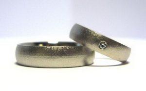 Vestuviniai žiedai Nr.91 (matiniai, iš platinos arba balto aukso)