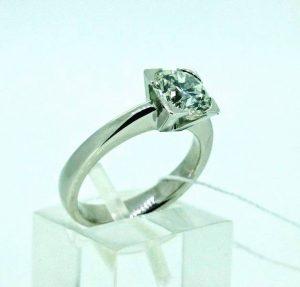 Sužadėtuvių žiedas Nr.96 (iš balto, geltono arba raudono aukso, su briliantu)