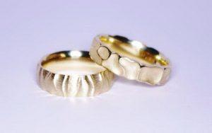 Vestuviniai žiedai Nr.97 (matiniai, iš geltono arba raudono aukso)