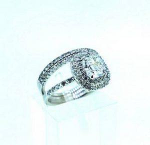 Sužadėtuvių žiedas Nr.99 (modernus,iš balto,raudono arba geltono aukso, su briliantais)