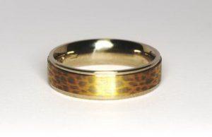 """Vestuviniai žiedai Nr.99 (iš platinos ir aukso, """"makume gane"""")"""